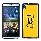 MDMG / Snap On Hartschalen-Case Schutzhülle Hülle - Hufflepuff - HTC Desire D826
