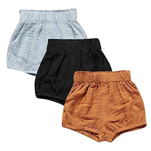 Miyanuby Neugeborenes Baby Mädchen Shorts Hose Elastische Taille Pull-on Diaper Cover Trainerhosen Bottoms -