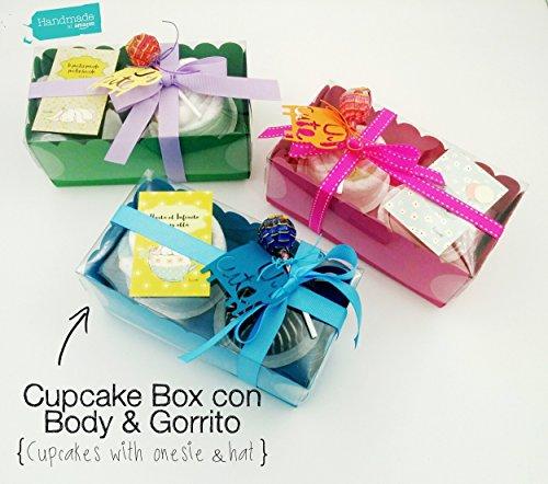Cupcakes con BODY y GORRITO de marca y Pañales DODOT | Talla 1-6 meses, 100{17e3d41a87adea1212cda6f284ef3f4aa156cade9d2efcc1e8de3c3956f9d187} Algodón | Idea Regalo para Bebé | Obsequio para bautizo | Regalo Baby Shower | Para Niños/Niñas/Unisex