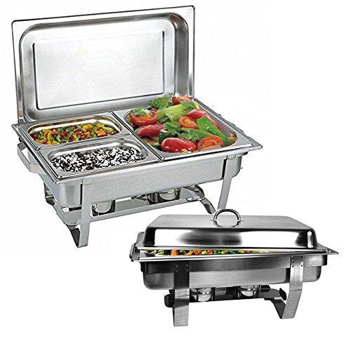 Xuanyue 3-pan buffet server & warming tray (3-in-1), capacità: l, in acciaio inox padelle scaldavivande azienda contenitore scaldavivande dispositivo contenente
