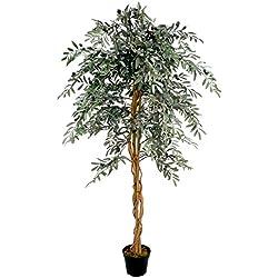 McPalms künstlicher Olivenbaum 1,80 m Kunstbaum