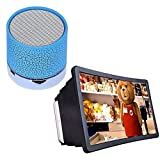 #8: Drumstone Wireless LED Bluetooth Speaker with Mobile Phone 3D Screen Magnifier 3D Video Screen Eyes Protection Compatible for Xiaomi & Lenovo V7 Mobile
