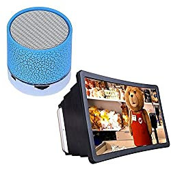 Drumstone Wireless Led Bluetooth Speaker with Mobile Phone 3D Screen Magnifier 3D Video Screen Eyes Protection
