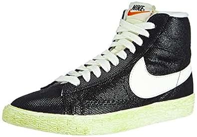 Nike Blazer Mid Suede Vintage, Baskets Femme - Noir (black/sail-wolf Grey), 36 EU