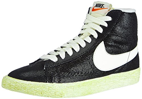 Nike Blazer Vintage Damen Hohe Sneakers, Schwarz (Black/Sail-Wolf Grey), 44.5 EU / 9.5 UK / 12 US