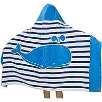 Comfysail Niños Toalla de Baño de 100% Algodón Poncho Toalla de Playa con Capucha de 2-7 años 76*127cm