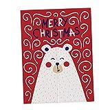Homyl Weihnachten Getrennte Tür Vorhang Türvorhang Balkonvorhang Raumteiler Dekoration - Bear Red S