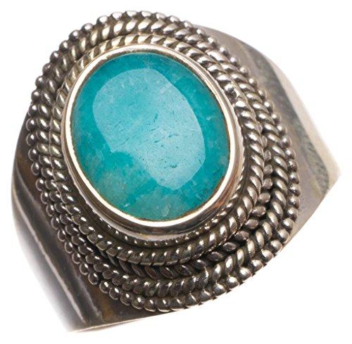 stargems (TM) natürliches blau Aquamarin handgefertigt Einzigartig 925Sterling Silber Ring, UK-Größe O