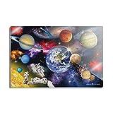 Kühlschrankmagnet, solarbetrieben, Planeten, Weltraum, Saturn, Jupiter, Mars, rechteckig, Acryl