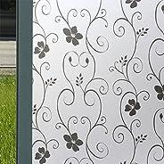 OUYAWEI 2Mx 45CM PVC Waterproof Frosted Glass Film Sticker for Bathroom Window Home Privacy