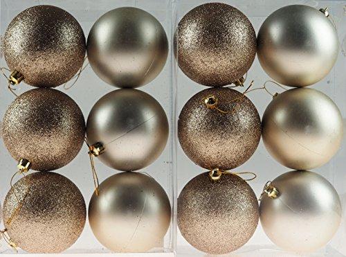 Set di 12palline natalizie 9cm decorations-champagne