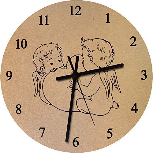 Azeeda 275mm 'Paar Cherubs' Große MDF-Uhr (CK00011633) -