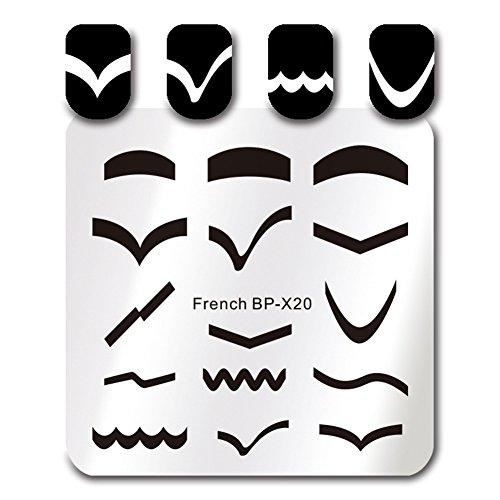 Born Pretty Platz Nagel Kunst Stempel Schablone Französisch Spitzen Design Bild Platte BP-X20
