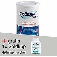 Collagile human (1 Dose) & 150 Kapseln der Grünlippmuschel von Goldlipp gratis
