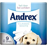Andrex classique BLANCHE hygiénique Rolls - 240 feuilles par rouleau (9) -