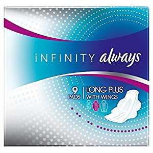 Always Infinity Sanitary Pads Long Plus with Wings (9)