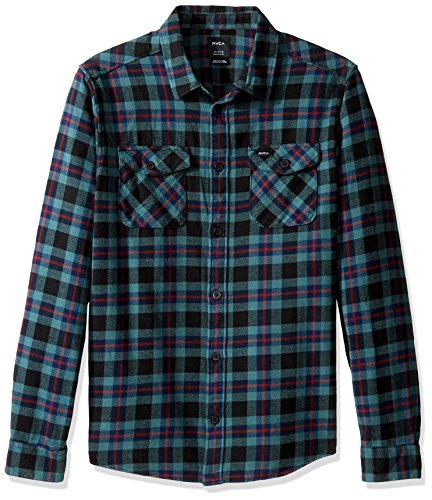 rvca-mens-thatll-work-flannel-pirate-black-large