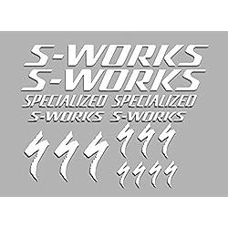 PEGATINAS STICKERS S-WORKS F38 BIKES STICKERS AUFKLEBER DECALS AUTOCOLLANTS ADESIVI MTB BTT (BLANCO)
