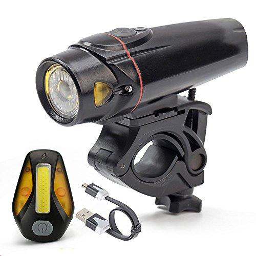 wittorch Bike Lights Set Smart Sensoren LED Fahrrad Licht Wasserdicht USB wiederaufladbar vorne mult-function Rücklicht, Radfahren Taschenlampe Lights Sets (2.200mAh-Lithium-Akku, 4Licht-Modus Optionen)