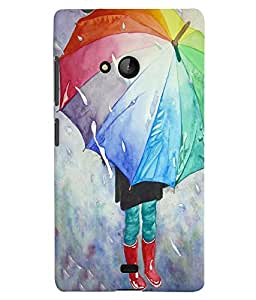 Citydreamz Umbrella\Rain Hard Polycarbonate Designer Back Case Cover For Microsoft Nokia Lumia 540