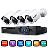 FLOUREON CCTV Security Camera System 8CH 1080N ONVIF AHD DVR + 4 X
