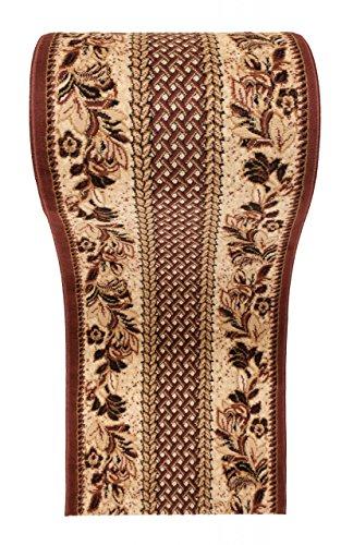 WE LOVE RUGS CARPETO Läufer Teppich Flur in Beige Braun - Traditionell Europäisch Muster - Kurzflor Teppichlaufer VERONA Kollektion 70 x 625 cm (Traditionelle Eingangsbereich)