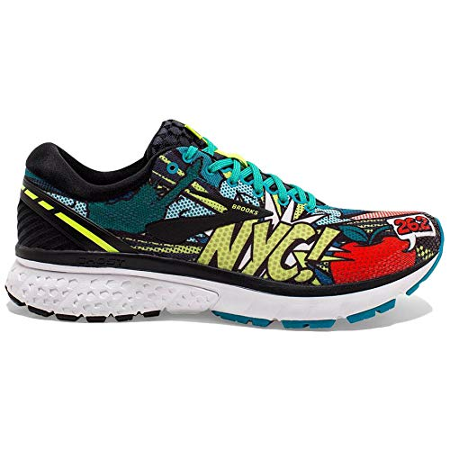 Brooks Ghost 11 NYC, Chaussures de Running Homme, Multicolore (Black/Green/Popart 041), 44 EU