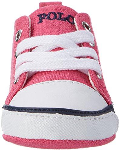 Ralph Lauren Harbour Hi Layette, Chaussures de Naissance bébé fille Pink (Fuchsia Canvas w/ navy pp)
