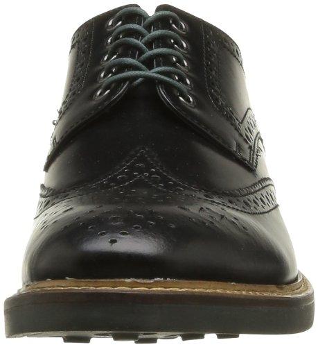 Base London Woburn, Chaussures de ville homme Noir (Black Hi Shine)