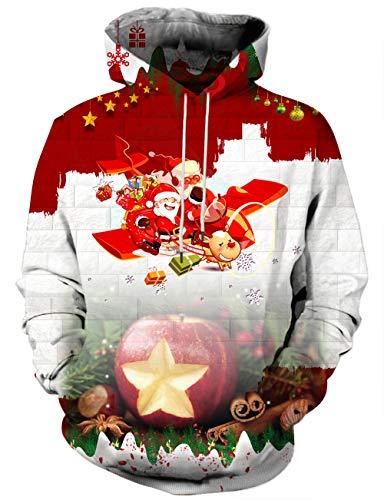 LAIDIPAS Unisex 3D bedrucktes Kapuzenpulli Casual Pullover Hoodie mit großen Taschen L