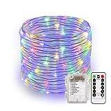 B-right Manguera de Luces, 14m 120 LED Multicolor, 8 Modos Resistente al Agua, Decoración para Navidad, Fiesta, Boda, Jardín, Terraza, Patio,etc
