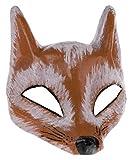 Fuchs Halbmaske Theater Maske aus Pappe