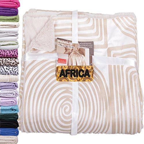 Kuscheldecke Wohndecke AFRICA *Aktionspreis ab 4,99€* Auswahl: Spiral beige