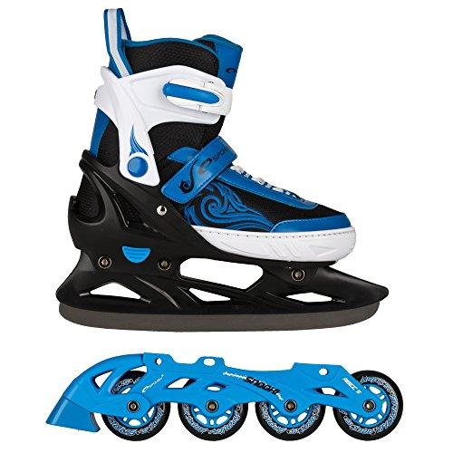 SPOKEY® SNOOKI Inline Skates / Schlittschuhe mit austauschbarer Schiene | Kinder | Damen | Herren | Inliner | Blades | Rollen | Kufe | ABEC5 Carbon | 29-32 | 33-36 | 37-43