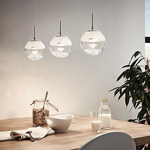 s.LUCE MyLight Mini LED Pendelleuchte befüllbar mit Deko die Hängeleuchte wird mit Kristallen geliefert schöne Lampe für Esszimmer Bar Hotellobby Restaurant oder auch Küche Küchentresen Küchentheke