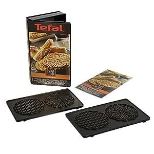 Tefal XA800712 Snack Collection Coffret de Plaque pour Bricelets avec Livre de Recettes 4,4 x 15,5 x 24,2 cm