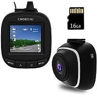 【Offrir Carte Micro SD de 16Go】 CHORTAU Mini Caméra de Voiture Full HD 1080P, Dashcam Voiture 1,5 Pouces avec Grand Angle, Caméra Embarquée Voiture Enregistrement en Boucle