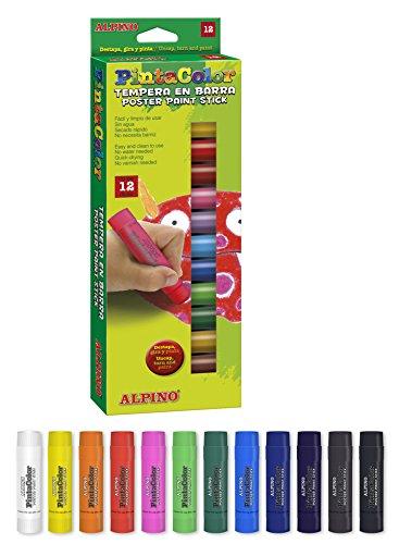 Alpino PX000006 – Témpera sólida, 6 unidades, multicolor