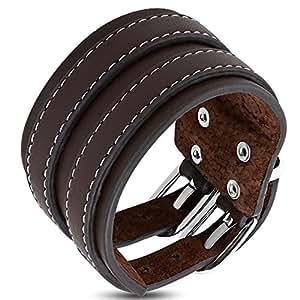 Zense-Kraft-Armband für Herren, braunes Leder, Ref. ZB0266