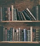 Vintage Hintergründen Fotografie Grunge Bücherregal mit Alte Bücher Retro Hintergründe für Foto Studio 5x 7ft