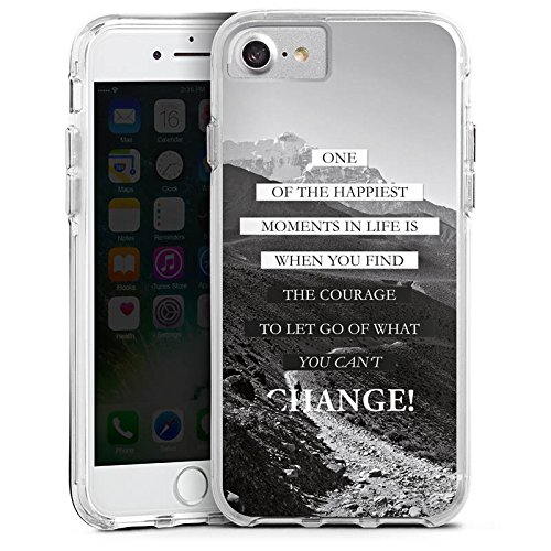 Apple iPhone 8 Bumper Hülle Bumper Case Glitzer Hülle Sprüche Phrases Sayings Bumper Case transparent