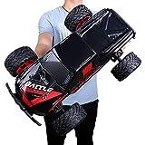 Pinjeer Coche teledirigido estupendo de alta velocidad de 10 M/S 1: 10 juguetes grandes de la carga de los niños Regalo de cumpleaños del coche de la ascensión todoterreno del coche para los niños 12+