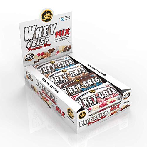 All Stars Whey-Crisp Bar, Mix-Box, 12er Pack (12 x 50 g)