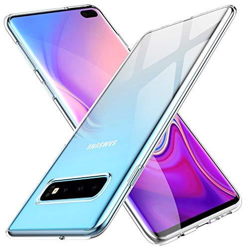KuGi. per Cover Samsung Galaxy S10 Plus, Custodia Trasparente Silicone Cover Morbida TPU Caso, Anti Scivolo& Anti-Urto Case Disegnato per Samsung Galaxy S10 Plus - Trasparente