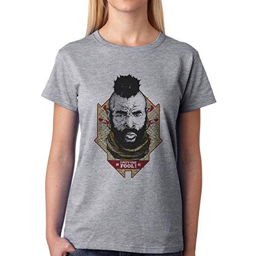 I Pity The Fool Mr T A Team Damen T-Shirt Grau