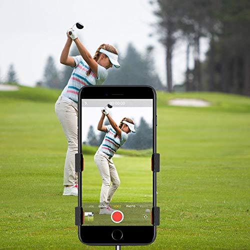 ZOEA Record Golf Swing Handy-Halterung Golf Cart, Handy-Halterung, Trainingshilfe, Zubehör kompatibel mit jedem Smartphone, justieren -
