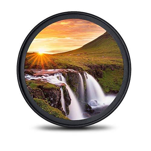 waka MC UV filter 52mm, Ultra-Slim Objektiv UV Filter 16 Schichten Multi-Beschichtung Ultraviolett Schutzfilter für Canon Nikon Sony Alles DSLR (52mm Objektiv-filter)