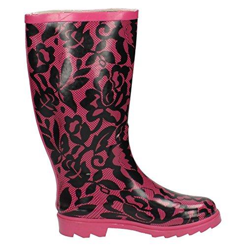 Generic  X1103,  Damen Arbeits-Gummistiefel rosa blume