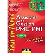 Assistant de gestion PME-PMI - 10e édition : en 110 fiches (BTS Assistant)