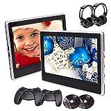 Ankunft 11,6 Zoll Tablet-Stil Dual-Auto-Kopfstütze DVD-Spieler 2 St. Fond-Entertainment-Systeme Unterstützung USB/SD/HDMI/IR/FM Transmitter Twin Screens in Paket mit kostenlosen Wireles